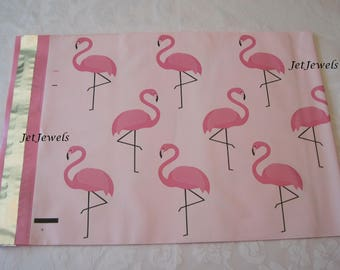 25 Pink Mailers, Shipping Envelopes, Poly Mailers, Mailing Envelopes, Pink Envelopes, Pink Flamingos, Shipping Bags, Mailing Bags 10x13