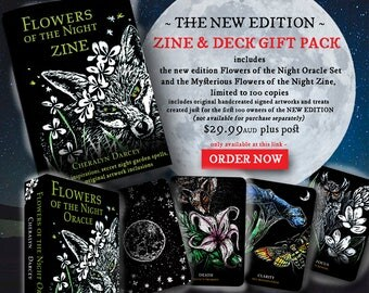 PRE ORDER Flowers of the Night Oracle Deck Gift Pack 2017 New Edition