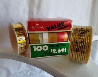 Vintage New Old Stock Hallmark Christmas Ribbon lot