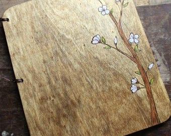 Guest Book Sale! Custom Wedding Guest Book - Cherry Blossom rustic wedding guest book wedding sign in book shower book wedding memory book