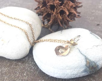 Casual Necklace, Artisan Necklace, Woman's Necklace, Silver and Gold necklace, Gold Filled Chain, OOAK Pendant, Minimalist Necklace,