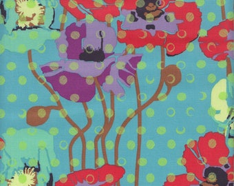 Anna Maria Horner Floral Retrospective Raindrops Poppies in Candy - Half Yard