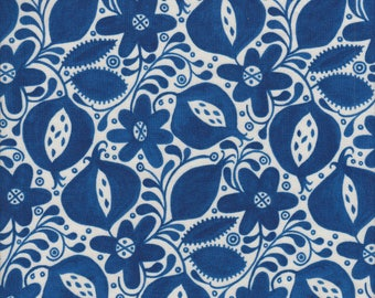 In The Beginning Fabrics Azuli Pomegranate in Blue - Half Yard