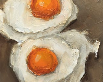 EGGS  Food Still Life Culinary Art Giclee Colette W. Davis print from my original oil painting
