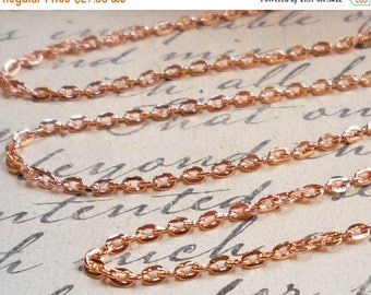 20% OFF SALE Copper Cable Chain 100 foot Full Spool, Jewelry Cable Chain Rose Gold Copper Wholesale