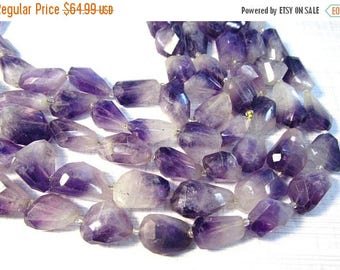 20% OFF SALE Natural Ombre Amethyst Nugget Beads, Hard To Find Natural Ombre Bi Color Purple Gemstone ,  100 Percent Natural