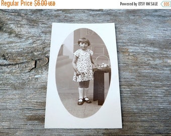 ON SALE Vintage Antique 1920/20s French real photography postcard  girl