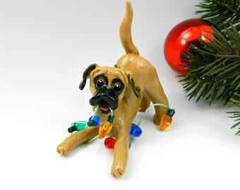 Great Dane Fawn Ornament Christmas Figurine Lights Porcelain