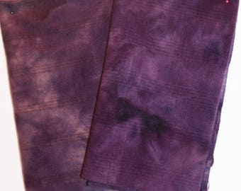 MYSTIC PURPLE hand-dyed wool for rug hooking and penny rugs