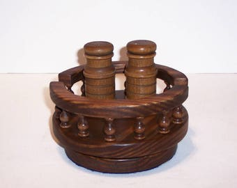 Lazy Susan with Rails Handcrafted from Pine