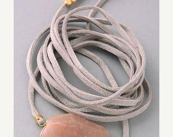 SUMMER SALE LEATHER Wrap Bracelet- essential oil diffuser jewelry / boho jewelry