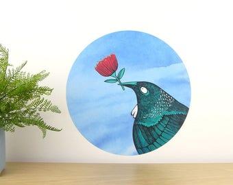 Tui Loves... wall decal – medium | Kiwiana wall decal