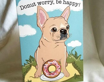 French Bulldog Donut Greeting Card