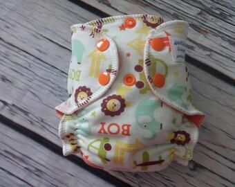 Newborn Fitted Cloth Diaper in Boys