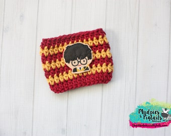 Wizard { Harry Potter } gryffindor, sorcery, red gold Coffee frappuccino sleeve, stocking stuffer, or plastic cups