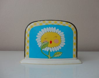 VINTAGE ohio art sunflower tin TOY TOASTER