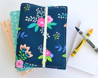 Birthday Party Favors, Crayon Wallets,Choose Quantity, 8 Crayons and Notepad Included, Art Party, Wedding Favors, Gift for Students