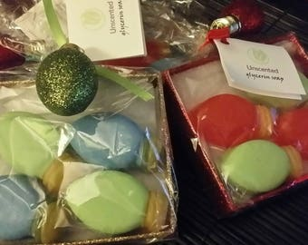 Christmas Lights guest soaps set