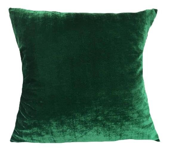 coussin de velours d coratif vert fonc coussin vert jungle. Black Bedroom Furniture Sets. Home Design Ideas