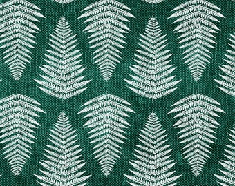 Summer Fern Fabric - Fern On Green By Littlearrowdesign - Botanical Fern Home Decor Cotton Fabric By The Yard With Spoonflower