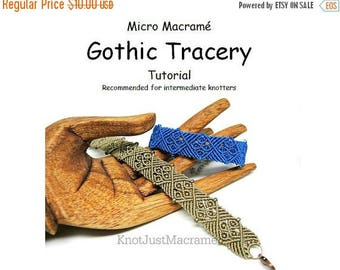 Introductory Special: Micro Macrame Tutorial - Gothic Tracery Bracelet - Pattern - Beaded Macrame - Jewelry Making - DIY