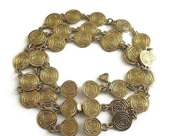 SALE Modernist Roses Bracelet Vintage Signed LC for Liz Claiborne