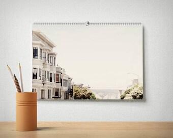 2018 San Francisco Calendar, SF Calendar, Office Calendar, Large Calendar, 12 Month Calendar, Golden Gate Bridge, California Decor