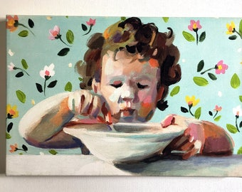 Porridge is great print on canvas a4 size