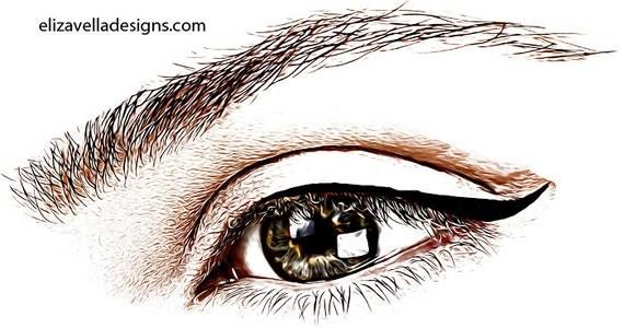 womans brown eye png clipart image jpg printable art Digital Image Download graphics beauty makeup art printables