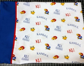 KU Jayhawks Fabric   Travel / Toddler size pillowcase