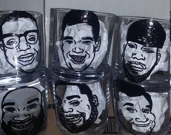 4pc for Desiree, Custom Shot Glasses, Groomsmen Invitation, Groomsmen Gift Ideas, Whisky glass, Caricature mug, Best Man Gift Idea, Wedding