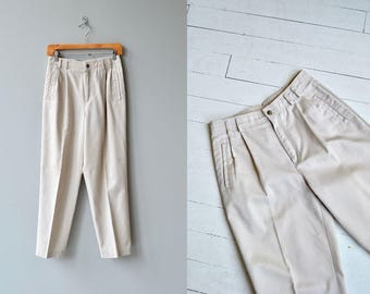 Luca cotton trousers | high waisted cotton pants