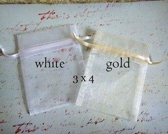 Organza Bags, Organza Pouch, White Organza Bags, White Organza Pouch, Organza Bags 3x4
