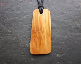 "Natural Wood Pendant - Birch/Beith - Unique Ogham ""Secret Sigil"" Design."