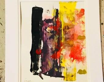 Lennon.  Original art on paper by r o z Inga...modern art...