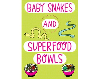 Greeting Card - Baby Snakes And Superfood Bowls