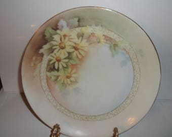 Antique/vintage Yellow Daisy  Handpainted Signed Stella Robinson  Bavarian