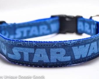 Star Wars Dog Collar / Blue / Custom Dog Collar / Rebel symbol