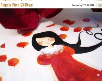 30% Off - Summer SALE 30 Percent Off - Summer SALE Girl at Poppies - Postcard