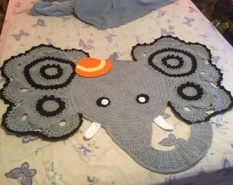Jeffery The Crochet Elephant Rug