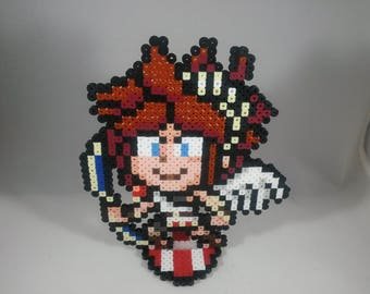 Pit - Kid Icarus - Nintendo Super Smash Bros - Perler Bead Sprite Pixel Art Figure Stand or Lanyard Necklace