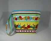 Mini zip - sac à projet doublé - 100 % coton