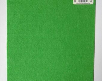 Sheet of stiff felt / stiff green ecofi felt