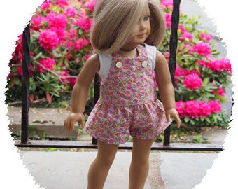 18 inch Dolls Clothes -  Girl Doll Clothing  - Shortalls and Cropped Top