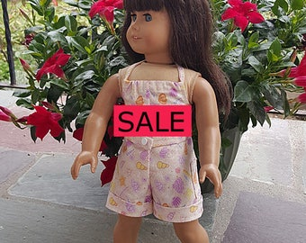 18 inch Dolls Clothes -  Girl Doll Clothes - Beach Theme - Romper - Summer -Sale