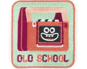 Old School Iron On Patch