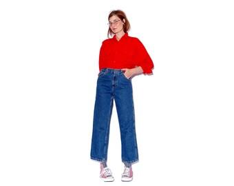 vintage RALPH LAUREN JEANS polo jeans xs small / high waist jeans straight leg wide leg jeans boyfriend jeans carpenter jeans 90s clothing