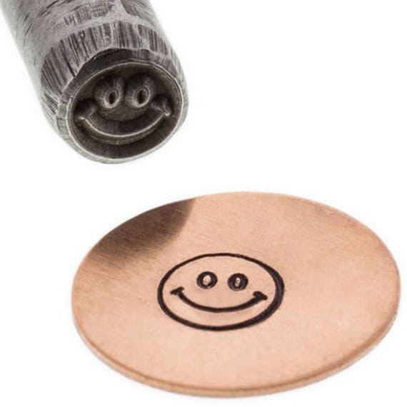 Smile Metal Design Stamp 4mm wide and 4mm high - Eurotool