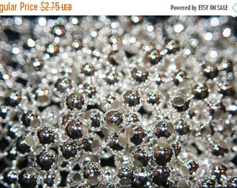 SUMMER CLEARANCE SALE - Silver Plated Round Ball Beads - 6mm - 20 pcs