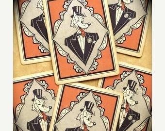ONSALE Nasty Pin Up Girls Vintage1950s Dirty Dog playing cards